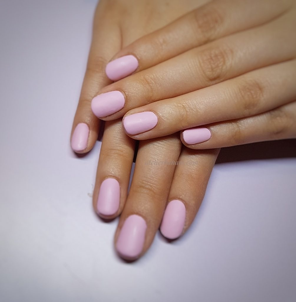 pink with matte top finish