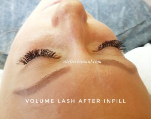 Volume Lash after infill