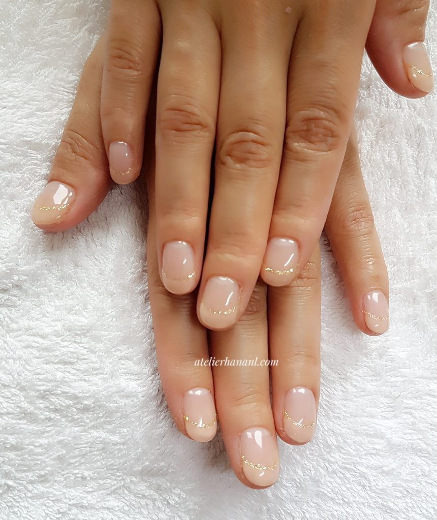 right pink french nails
