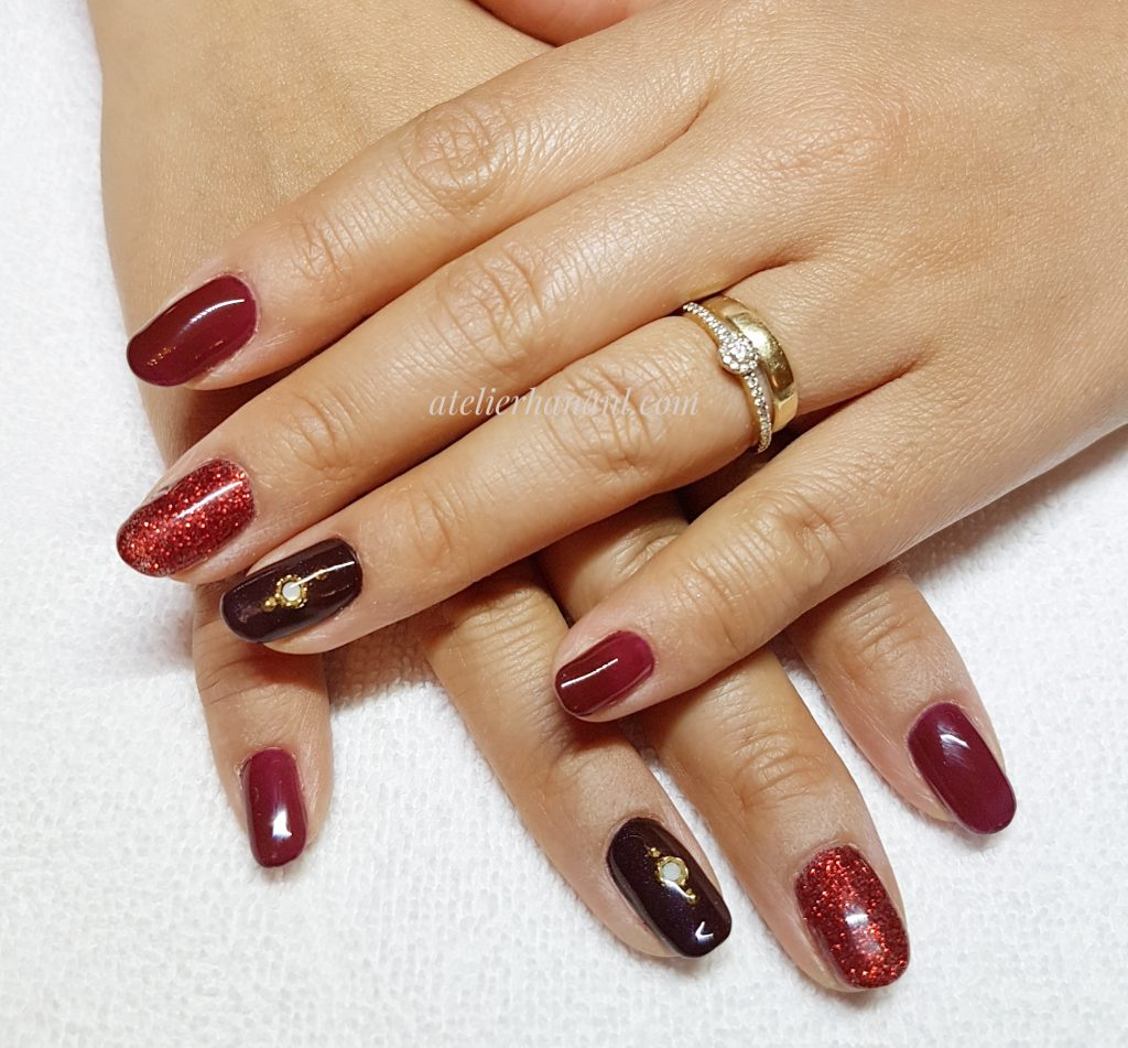 gel nail red color