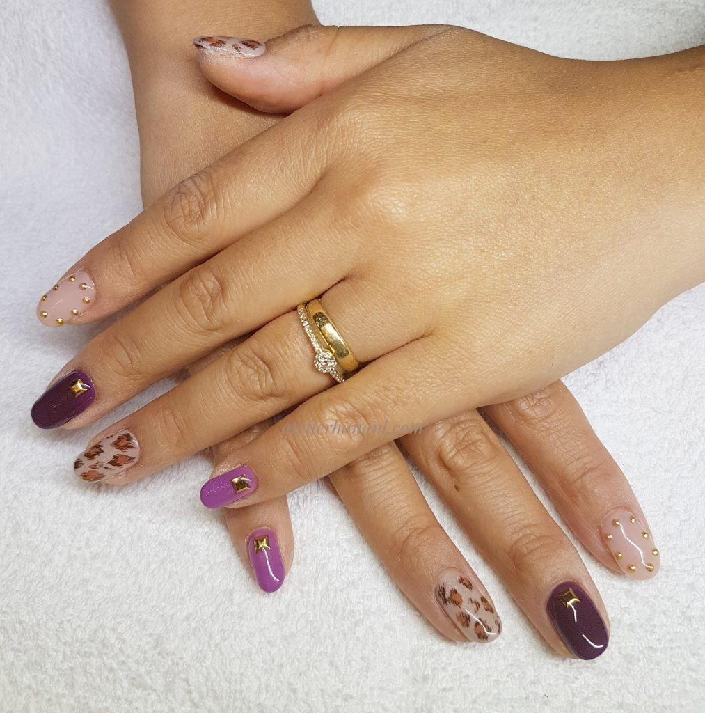 Léopard nail design