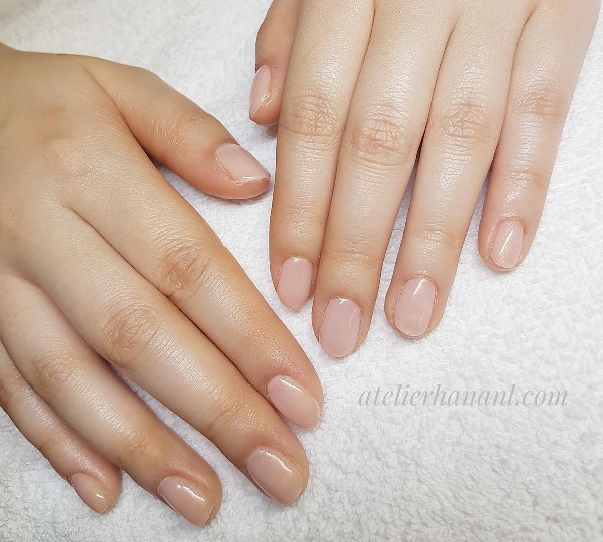 Pink gel nails