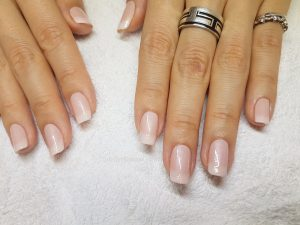 Manicure & paint white ombre