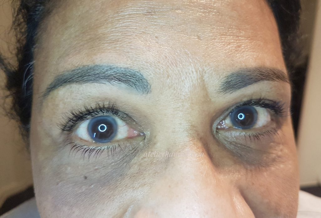 eyelash extensions upper and bottom