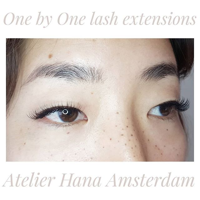 One by one lash extensions infil for Nanae @nkudohair who is hair stylist at Japanese hair salon in Amsterdam @assort.amsterdam
