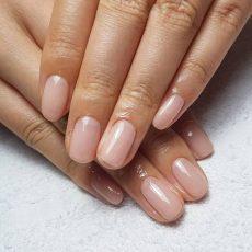 相変わらずの美爪さんに一番人気のヌードピンク一色塗り